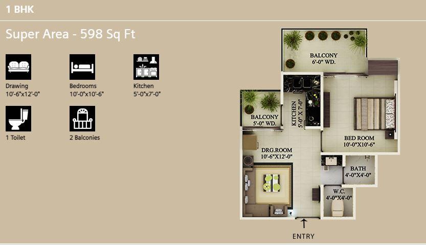 Supertech eco village 1 Floor Plan